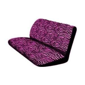 Hot Pink Zebra Tiger Animal Print Rear Car Truck SUV Bench Seat Cover