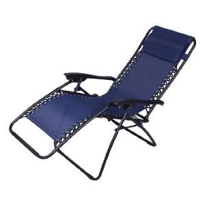 Aosom Zero Gravity Recliner Lounge Patio Pool Chair   Blue