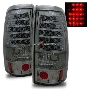 99 02 Chevy Silverado LED Tail Lights   Smoke Automotive