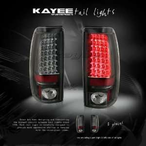 03 04 05 CHEVY SILVERADO LED TAIL LIGHTS LAMP BLACK