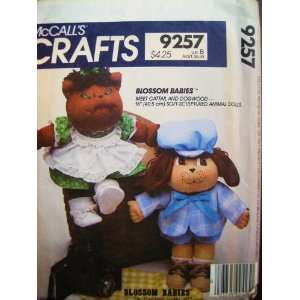 McCalls 9257 Soft Sculptured 16 Animal Dolls with Clothes Cattail
