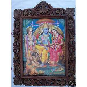 Sita, Ram Laxman & Hanuman, Pic in Wood Craft: Everything