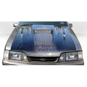1987 1993 Ford Mustang Carbon Creations Spyder3 Hood