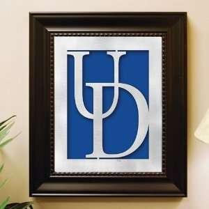 Delaware Blue Hens Framed Laser Cut Logo Wall Art