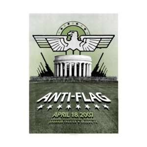 ANTI FLAG   Limited Edition Concert Poster   by PowerHouse