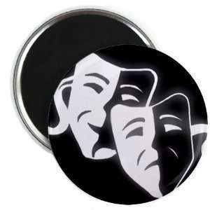 Creative Clam Comedy Tragedy Drama Masks On Black Funny 2