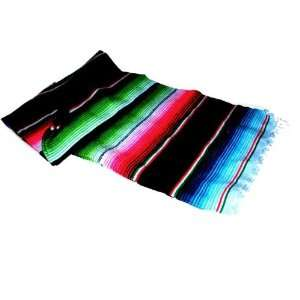Large Authentic Mexican Saltillo Sarapes Throw Rugs