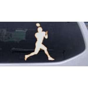 Football Player Sports Car Window Wall Laptop Decal Sticker    Orange
