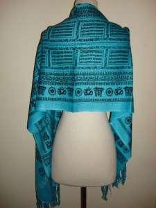 SIR ALISTAIR RAI Turquoise Prayer Scarf Wrap New