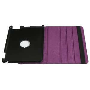 360°rotating Stand Leather Case Smart Cover purple color
