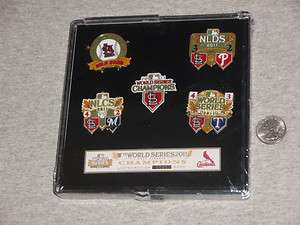 Cardinals 2011 World Series Champions 5 Pin Set PSG Case Pujols FREE