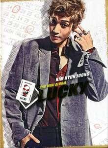 KIM HYUN JOONG (SS501)   Lucky (2nd Mini Album) KOREA CD *NEW* K POP