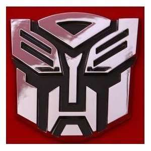 Autobot Car Chrome Badge Emblem 3D Logo (High Quality Chrome Design