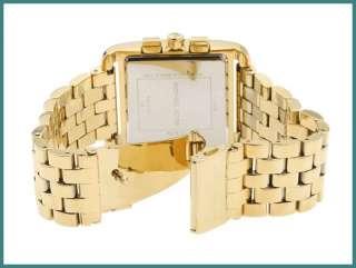 New MICHAEL KORS WOMENS Gold Chrono WATCH MK3141