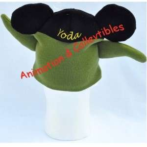 DISNEY Star Wars Yoda Jedi Mickey Mouse Ears Head Hat Beanie Clothing