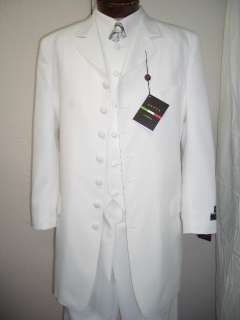 MENS 3PC WHITE DRESS ZOOT SUIT SIZE 42R NEW SUITS