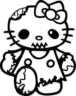 Walking Dead Hello Kitty Zombie Decal  Car Laptop Window Wall Sticker