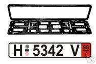 GERMAN Zoll license plate   European Front TAG & FRAME