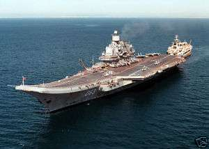 Russian Navy aircraft carrier Admiral Kuznetsov CV 063