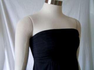 BANANA REPUBLIC BLACK STRAPLESS SILK DRESS SIZE 0P