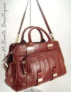 GUCCI Handbag Red Leather B BAG Tote Satchel Purse NEW