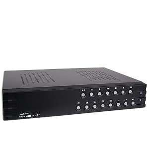 4 Channel Standalone DVR with USB Backup Port   No Hard