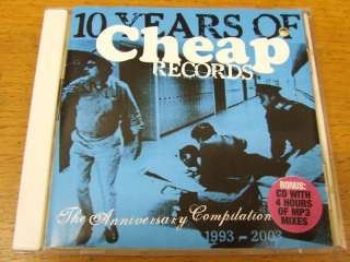 10 Years Of Cheap Records 2 CD PROMO Rober Hood LO 3.0 |