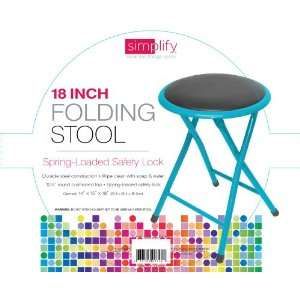Cushioned Step Stool with Spring Loaded Safety Lock