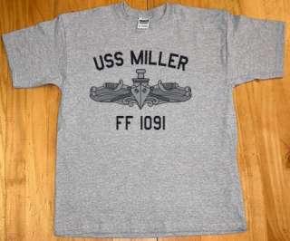 USN US Navy USS Miller FF 1091 Frigate T Shirt