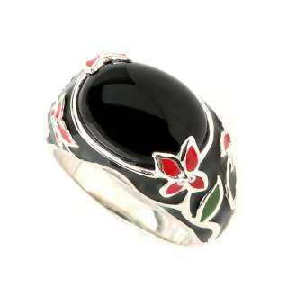 Ring Size 11 925 Sterling Silver Men Ring Genuine Grand Onyx New Free
