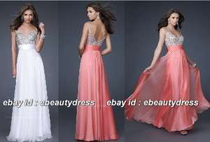 Bridal Bridesmaid Wedding Gown Prom Ball Evening Dress B110920