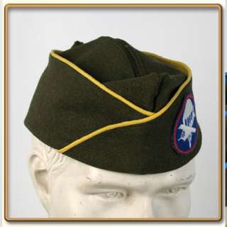 WW2 US Army EMs OD Wool Garrison Cap 57 Engineer