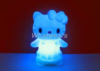 1x Changing 7 Color LED Romantic hello kitty Candle Party Light Gift