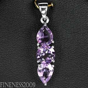 SUPERIOR NATURAL ROUND PEAR PORTUGUESE PURPLE AMETHYST STERLING 925