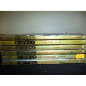 of 6 Dinotopia Series Collection Novels (Hatchling, Windchaser, Lost