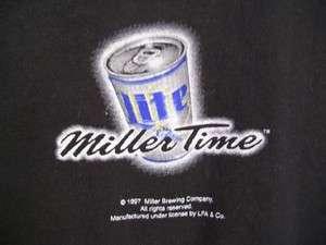 NWT LFA Littlefield Adams & Co Miller Beer Men Black Tee Shirt Size XL