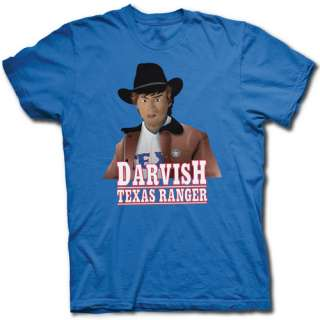 YU DARVISH TEXAS RANGERS T SHIRT    JAPANESE STAR STANDS IN FOR CHUCK