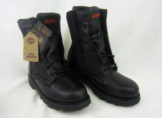 HARLEY DAVIDSON $180 RESPITE MENS BLACK MOTORCYCLE RIDING BOOT 13M