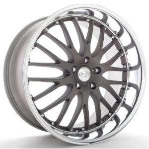 18x8 Privat Netz (Grey w/ Machined Lip) Wheels/Rims 5x100