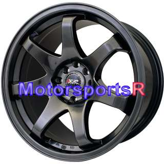 17 17x8 17x9 XXR 522 Chromium Black Rims Wheels Staggered Concave