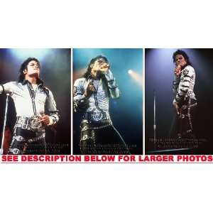MICHAEL JACKSON BAD TOUR STAGE SHOW (3) RARE 8x10 FINE ART