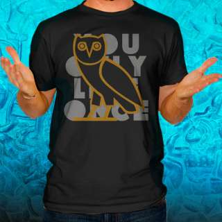 YOLO You Only Live Once OVOXO Drake Take Care T Shirt YMCMB Rap Black