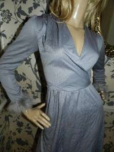 DESCRIPTION   Absolutely Stunning Seventies grey disco dress with a