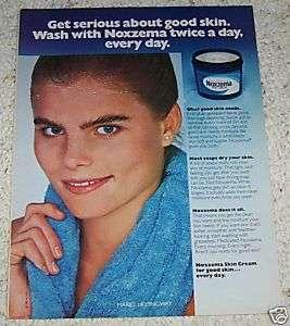 1981 MARIEL HEMINGWAY Noxzema skin cream VINTAGE 1pg AD