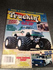 Mint Skoal Bandit Monster Truck Truckin Magazine May 1985