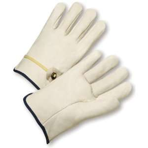 West Chester 990T Leather Glove, Slip on Cuff, 9.25 Length, Medium