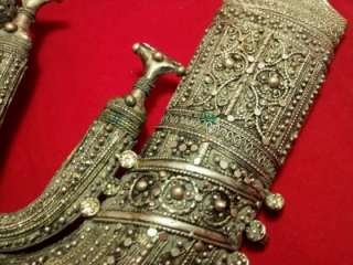Silver old Islamic Rare Jambiya Yemen Arab dagger khanjar knife Yemeni