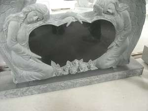 BEAUTIFUL HAND CARVED WEEPING ANGEL MONUMENT MM5