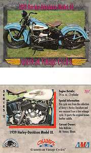 1939 Harley Davidson Model UL Motorcycle Engine 74 cu. in. 2 Cylinder