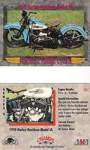 1939 Harley Davidson Model UL Moorcycle Engine 74 cu. in. 2 Cylinder